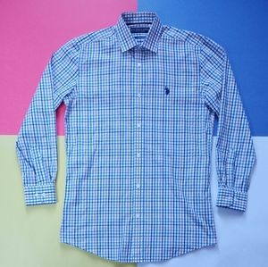 U.S. Polo Assn. Wrinkle Resistant Plaid Dress Shir